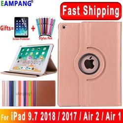 Für iPad 9,7 2018 2017 Fall Abdeckung für iPad Air 2 Air 1 Fall 5 6 5th 6th Generation Funda 360 grad Rotierenden Leder Smart Coque