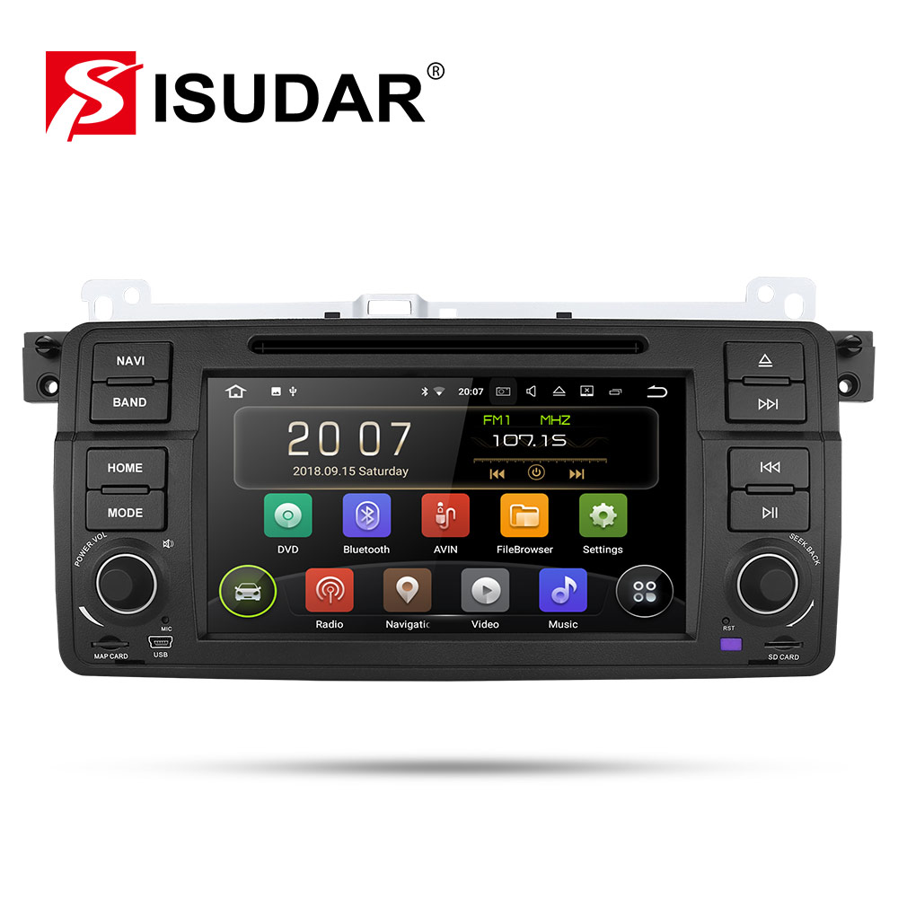 9 1 Isudar Reprodutor multimídia Carro Android Din DVD Player do carro Para BMW/E46/M3/MG/ZT /Rover 75/320/318/325 Quad Core 2GB 16GB Rádio FM