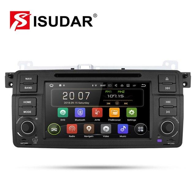 Isudar Máy Nghe Nhạc Đa Phương Tiện Android 9 1 DIN Đầu DVD Cho Xe BMW/E46/M3/MG/ZT /ROVER 75/320/318/325 Core 2GB 16GB Đài Phát Thanh FM