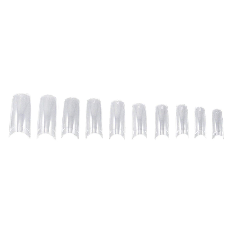 500 Fake French Transparent Nails For Manicure To Do-It-yourself Varnish Or Gel Extension 10 Sizes