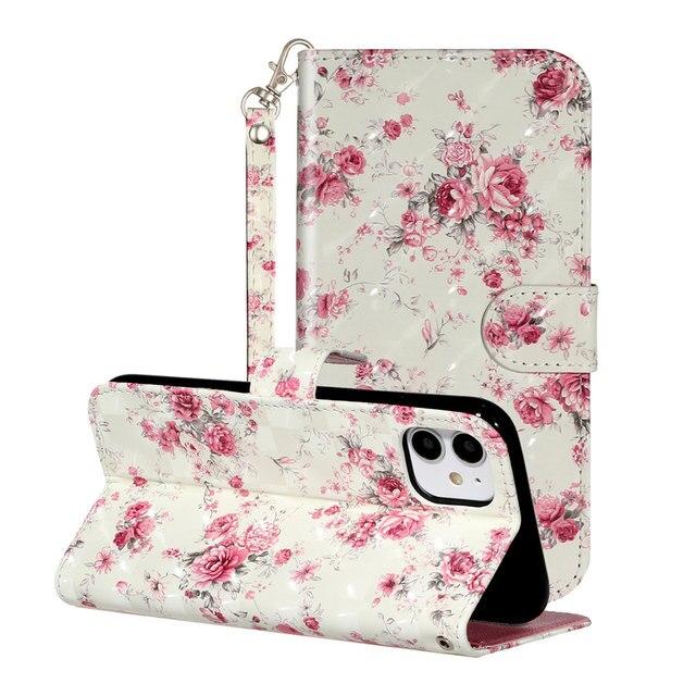 Lady dziewczyna chłopiec śliczne stojak do telefonu pokrywa dla Samsung Galaxy A6 Plus A70 A70 A70S A71 A750 klapki skórzany portfel Rose kwiat niedźwiedź O01G