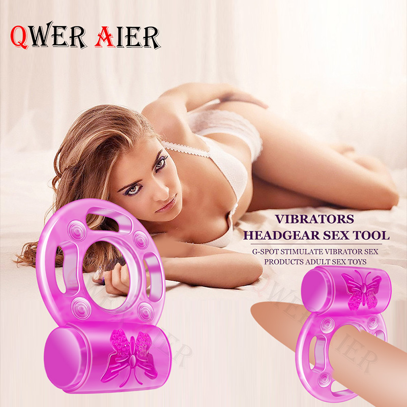 Butterfly Penis Vibrator Ring Clitoris Stimulate Cock Vibrating Ring Delay Ejacualtion Lock Fine Vibrating Ring Sex Toys For Men