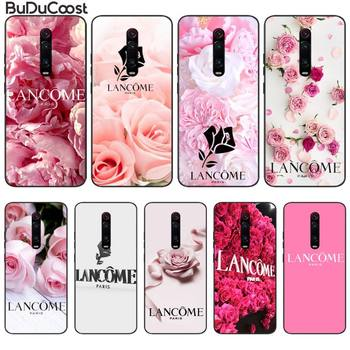 French Cosmetics Lancome Flower Phone Case For Xiaomi Redmi Note 8 Pro Note9 Pro For Redmi Note5 7 Note6Pro image