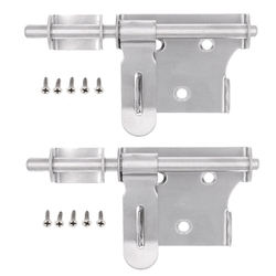 6 Inch Stainless Steel Security Barrel Latch Hasp with Padlock Hole for Fence Interior Door Brushed Finish| |   -