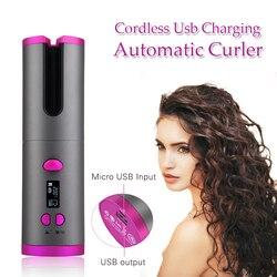 Cordless Automatic Hair Curler Wireless Curling Iron Ceramic Air Culer Waver Styer Crimping Hair Iron Curling Wand Hair Curl Bar