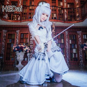 DATE A LIVE Nightmare Tokisaki Kurumi White Cosplay Costume Woman Dress Masquerade Outfits 1