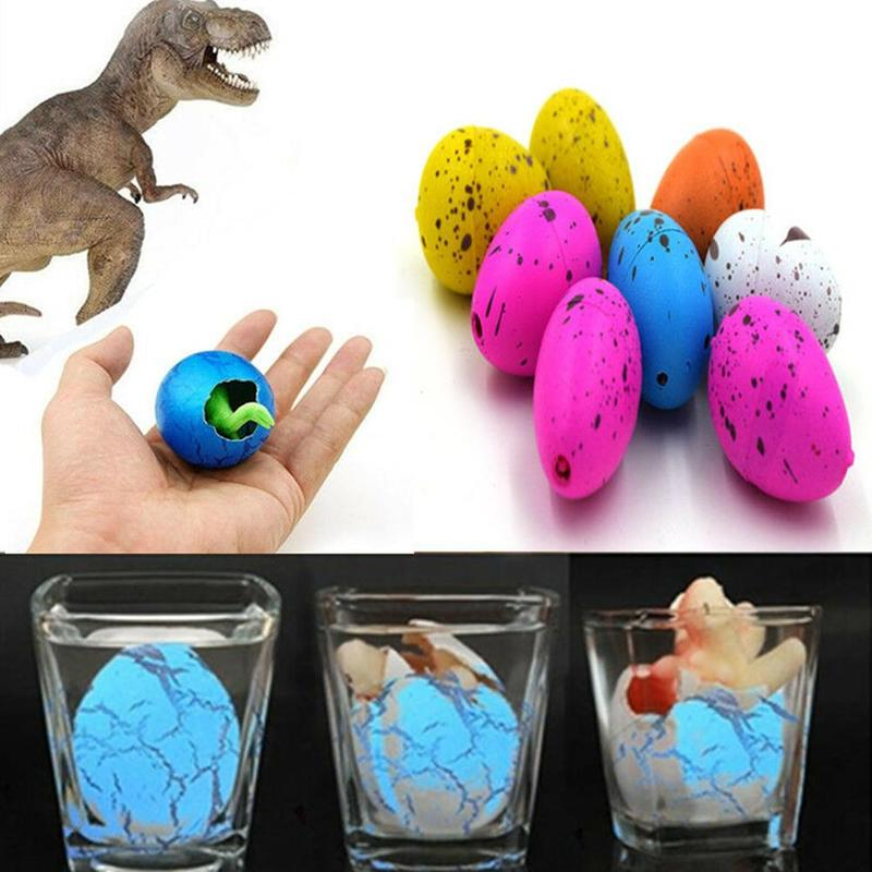 6pcs Cute <font><b>Dinosaur</b></font> <font><b>Eggs</b></font> Kids <font><b>Toy</b></font> Add Water Growing <font><b>Dinosaur</b></font> Surprise <font><b>Eggs</b></font> <font><b>Toy</b></font> For Kids Educational Play <font><b>Toys</b></font> Gifts Random Color image