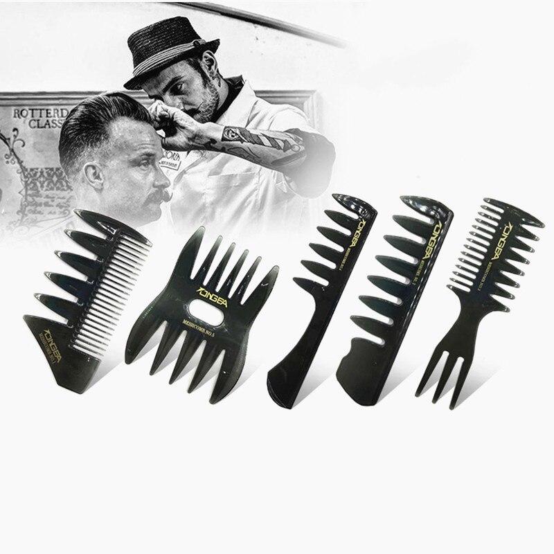 Мужская винтажная искусственная расческа, новая искусственная расческа-вилка, мужские Инструменты для укладки