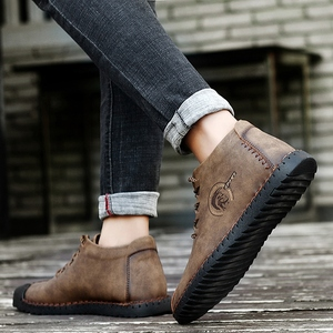 Image 1 - 38 47 נעליים יומיומיות גברים מותג נוח 2019 אופנה נעלי גברים עור #6016