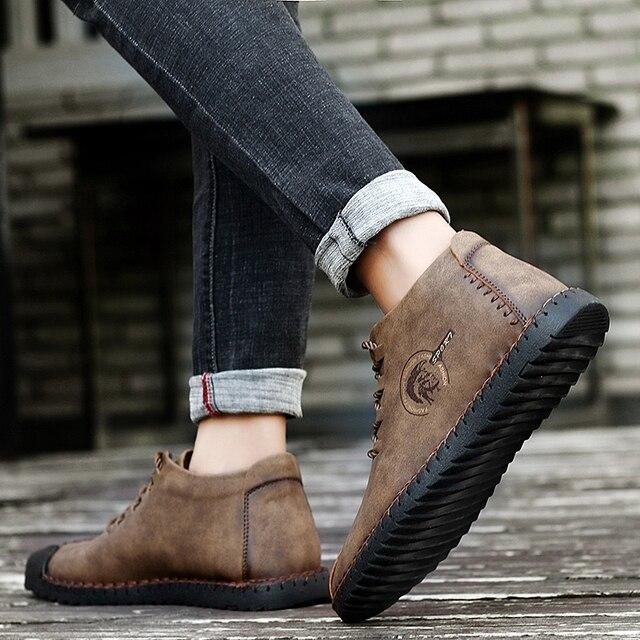 38 47 נעליים יומיומיות גברים מותג נוח 2019 אופנה נעלי גברים עור #6016