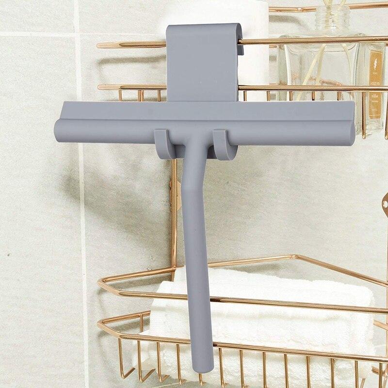 샤워 스퀴지 창 유리 와이퍼 스크레이퍼 클리너 실리콘 블레이드 & 홀더 후크 욕실/주방/자동차 유리/미러/도어/-에서스퀴즈부터 홈 & 가든 의