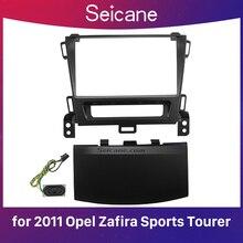 Seicane Black 2Din Car Radio Fascia for 2011+ Opel Zafira Sports Tourer Dash CD Installation Kit Stereo Frame Panel
