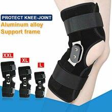 цена на Adjustable Hinged Knee Patella Joint Support Brace Sleeve Wrap Cap Stabilizer