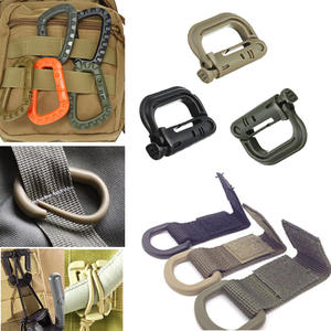 Backpack Carabiner Clip Buckle Webbing-Lock Snap Molle Climb Outdoor Quickdraw Camp Attach