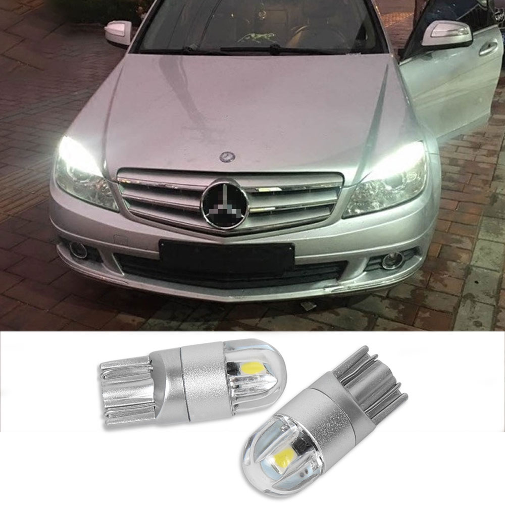 2x T10 W5W Canbus <font><b>LED</b></font> Car Interior Parking Lights For Mercedes Benz W211 W203 W204 W210 W205 <font><b>W202</b></font> W220 W124 W164 W213 W177 W212 image