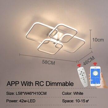 NEO Gleam Rectangle Acrylic Aluminum Modern Led ceiling lights for living room bedroom AC85-265V White Ceiling Lamp Fixtures 7