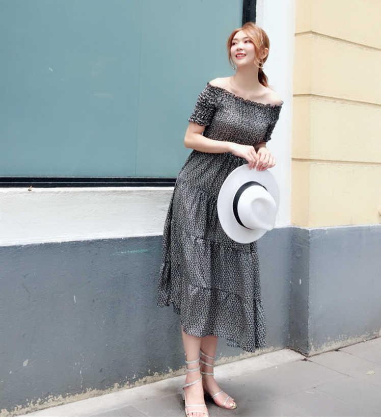 WEPBEL Новое богемное элегантное женское Макси Платье приталенное с цветочным принтом, с вырезом лодочкой, большие качели, дышащее, для кожи, летнее платье