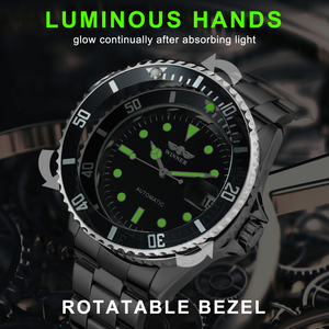 Image 4 - WINNER Official Classic Automatic Watch Men Business Mechanical Watches Top Brand Luxury Steel Strap Calendar Wristwatches hot