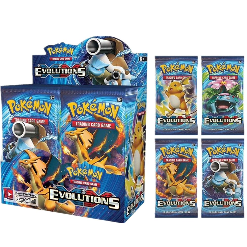 324Pcs Pokemon Cards XY Evolutions Booster Box Sealed Battle Carte Trading Cards Game Toy