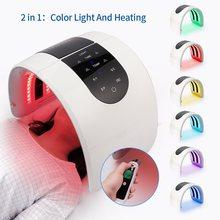 Foreverlily – masque Facial chauffant PDT, 7 couleurs, avec lampe LED Photon pour rajeunissement de la peau, usage domestique, soins de la peau