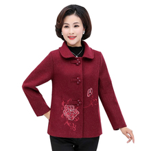 2019 Autumn Winter New Cashmere Coat Women Floral Embroidery Long Sleeve Wool Outwear Slim Female Overcoat Plus Size 4XL floral trench coat women autumn and winter fashion runway plus size vintage royal embroidery lady woolen overcoat female m 4xl