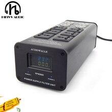 Hifi Filtro di Potenza Amplificatore di Potenza Filtro Audiowalle Presa di Alimentazione di Protezione Contro I Fulmini Tensione di Estensione Del Display Ac Presa