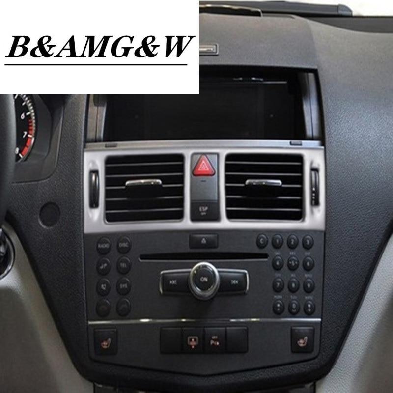 Auto Styling AC Front air Outlet Trimmen Rahmen Dekoration Aufkleber Deckt Für für C klasse W204 Innen Auto Zubehör