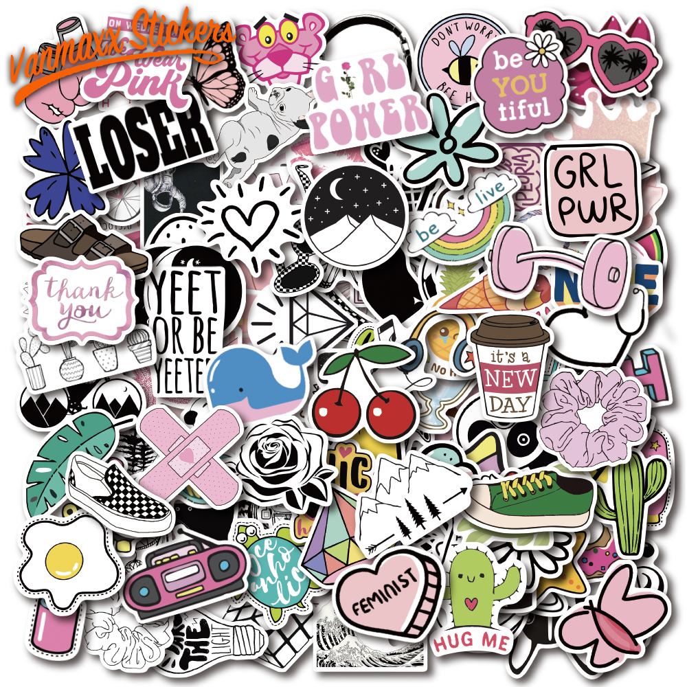 150 PCS Large Pack Lovely Cute VSCO Girl Kids Stickers Waterproof PVC Decal For Laptop Helmet Bicycle Water Bottle Phone Case
