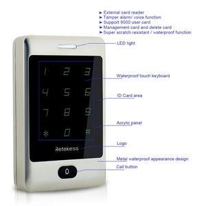 Image 3 - Retekess 2 шт. T AC01 RFID Контроль доступа сенсорная клавиатура система контроля допуска к двери 125 кГц KDL металлический чехол Корпус подсветка F9503D