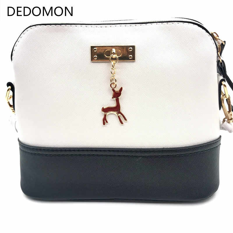 2019 Bags for Women Hot Women's Handbags Leather Fashion Small Shell Bag with Deer Toy Women Shoulder Bag Casual Crossbody