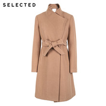 SELECTED Autumn and winter new women's wool tie-up long wool coat SIG|418427523(China)