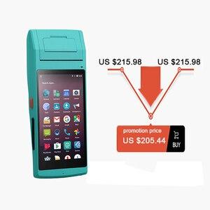 Image 2 - IssyzonePOS termal etiket makbuz yazıcı 58mm el PDA NFC PSAM Bluetooth WiFi POS yazıcı 2D barkod veri terminali