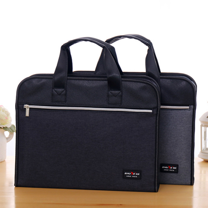 File Folder Briefcase Laptop Case Portable Information Document Bag Lady Office Business Conference Large Capacity Customization