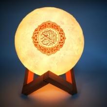 Ramadan APP Control Quran 3D Night Light Wireless quran Bluetooth Speakers Colorful Moon Muslim Speaker Koran