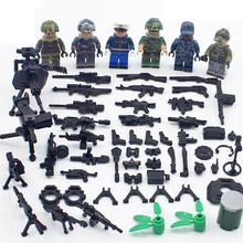 Kids Small Particles Military Building Blocks Bricks Soldiers with Weapons DIY Scene Assembly Blocks Toys for Children Education(China)