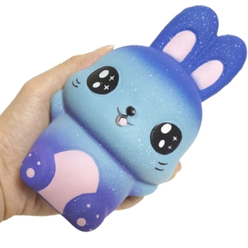 New Starry Sky Rabbit Jumbo Squishy Slow Rising Squeeze Stress Relief Kid Toys jumbo squishy french fries chips slow rising