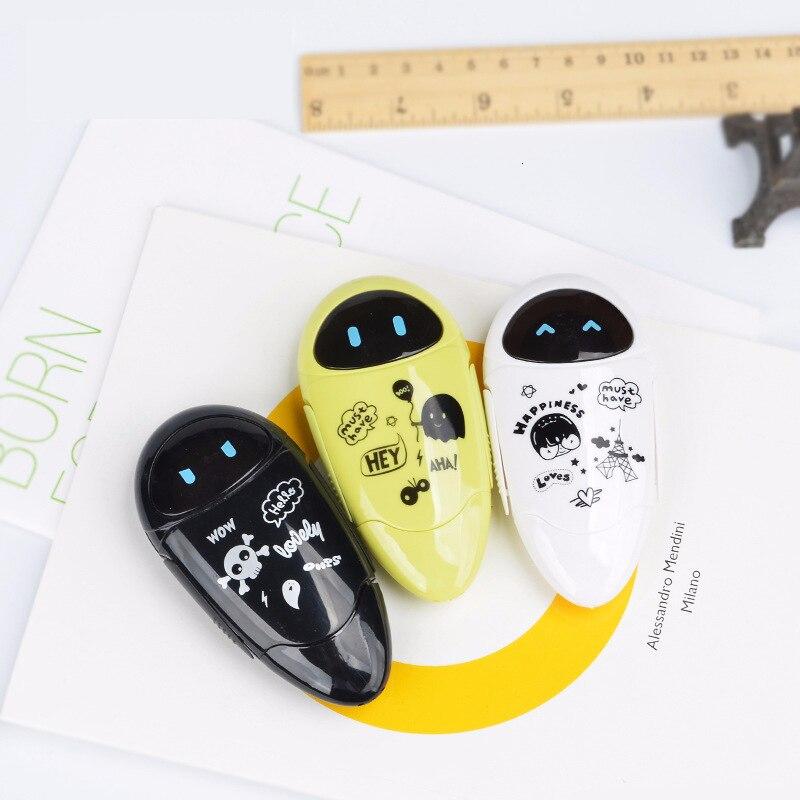 1PCS 4colors Random 8M Meters Robot Sticker Correction Tape Student Error Tape Pen Back Corrector Korean Corrector For School