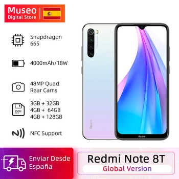 Wersja globalna Xiaomi Redmi Note 8 T 8 T 32GB / 64GB / 128GB Snapdragon 665 Octa Core 6.3 ''48MP Quad Camera 4000mAh 18W QC NFC