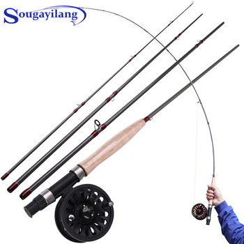 fly fishing rod 6 7 7 8 8 9 saltwater freshwater fly rod with a grade corkwood handle carp rod full aluminum reel seat Sougayilang 2.7M Fly Fishing Rod and Fly Reel Combo 5/6 4 Section Fly Fishing Rod Soft Cork Handle Fly Rods Set for Freshwater