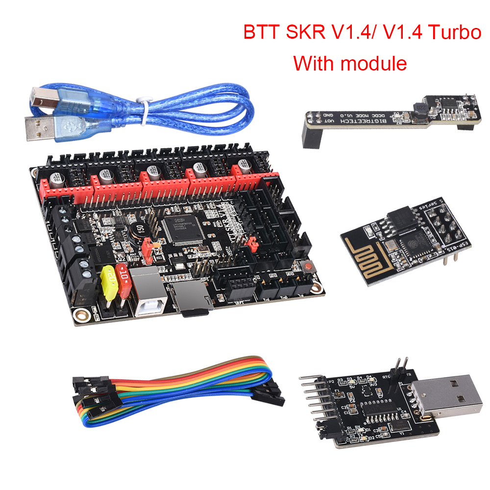 BIGTREETECH BTT SKR V1.4 32 Bit Board SKR V1.4 Turbo With DCDC Mode V1.0 WIFI BTT Writer Upgrade SKR V1.3 3d Printer Parts