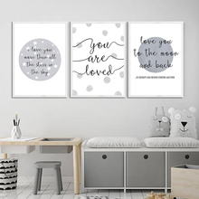 Get more info on the Moon Stars Posters And Prints Quotes Wall Art Canvas Painting Nursery Canvas Art Print Poster Wall Pictures Baby Kids Home Decor