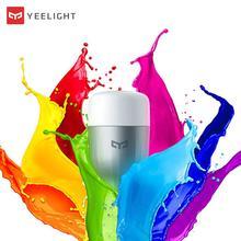Новинка, оригинальная светодиодная умная лампа Yee светильник Blue II (цвет) E27, 9 Вт, 600 люмен светильник Т телефон с дистанционным управлением по Wi Fi