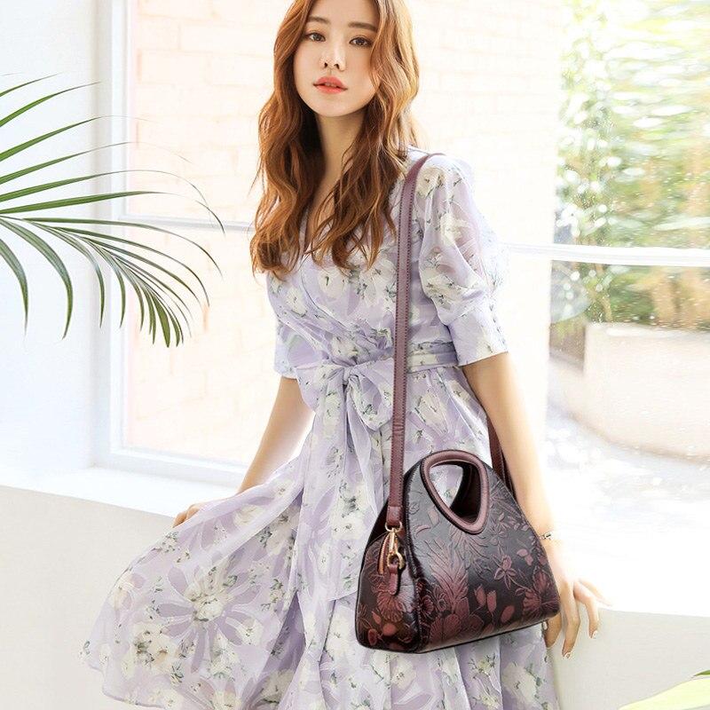 Image 5 - New women large handbag High quality leather luxury handbags  women bags designer fashion print messenger bags for women 2019 brand  lady shoulder bag toteShoulder Bags