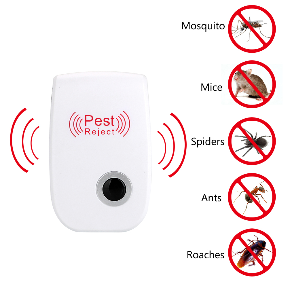 Electronic Mosquito Repellent Indoor Cockroach Mosquito Insect Killer Ultrasonic Pest Repeller EU/US Plug Rodent Control