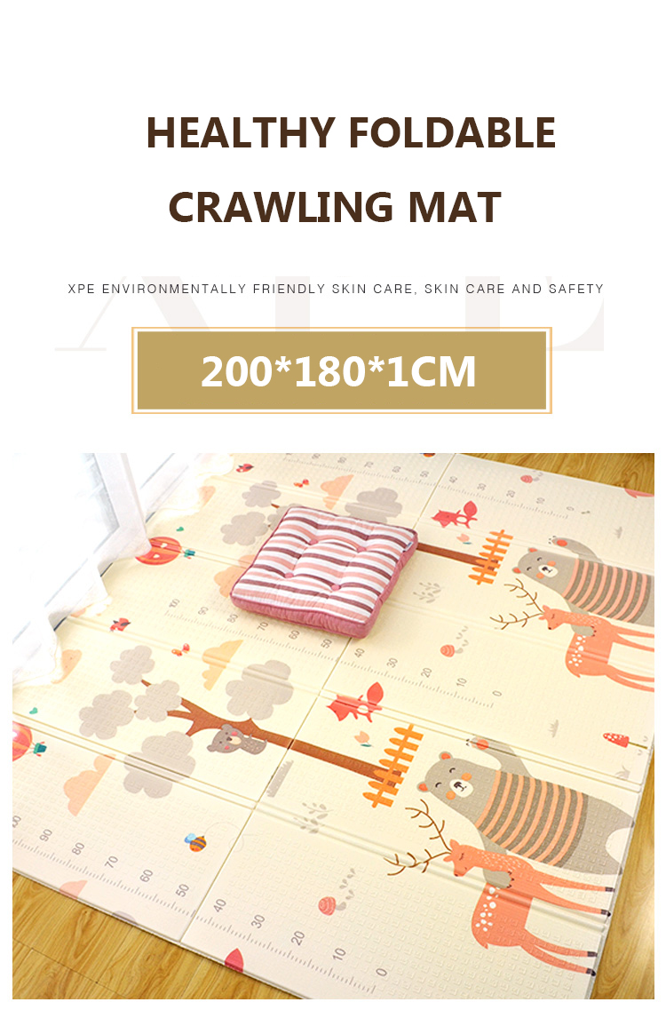 H8c00bce668de4547a64a385ae97ac0eaK XPE Folding Baby Play Mat 1cm Thick Crawling Toys for Children's Carpet Climbing Gyme Game Road Pad Living Room Home Kids Rug
