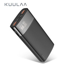 KUULAA 20000mAh Power Bank For iPhone Samsung Huawei Type C PD Fast Charging+ Quick Charge 3.0 USB Powerbank External Battery