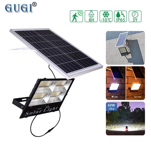 Holofote led de energia solar, quente/branco, regulável, para áreas externas, à prova d água, solar, para rua, para jardim