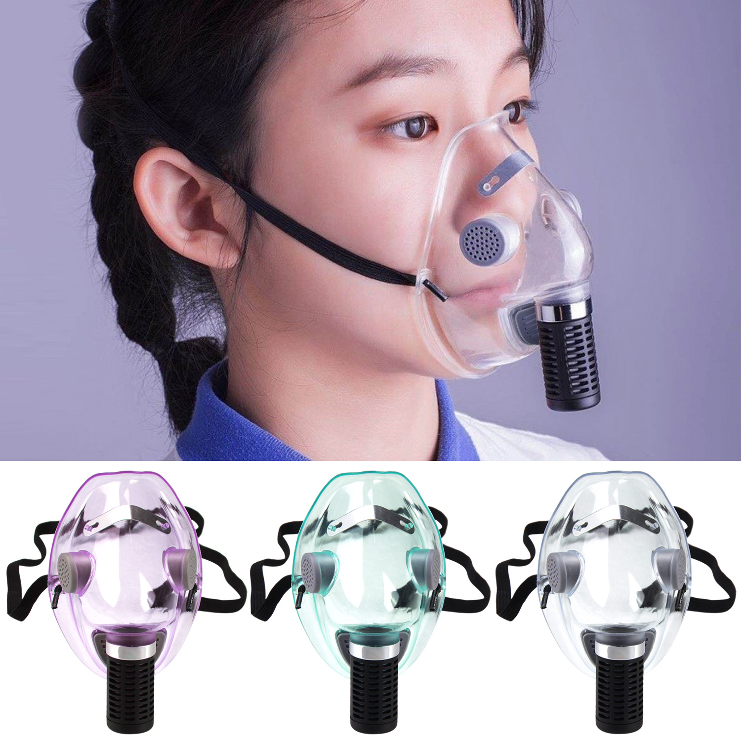Reusable Silicone Face Protective Masks Anti Dust Mouth Mask Personal Protective Equipment With Filter For Outdoor Indoor