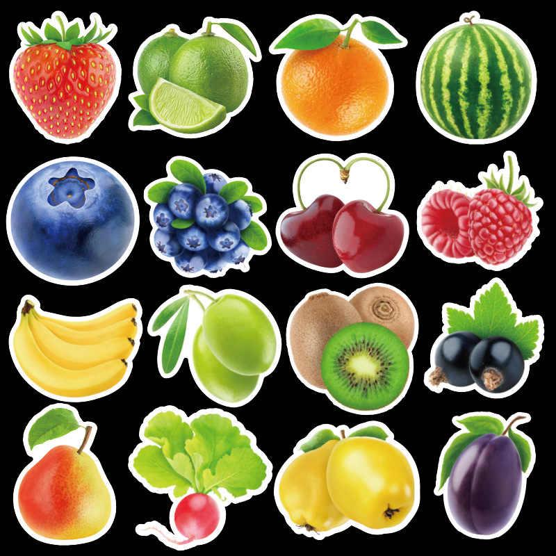 100pcs פירות ירקות ירוק צמח שרבוט מדבקות ילד מדבקת לרכב מחשב נייד סקייטבורד אופנוע עגלת קריקטורה מדבקה