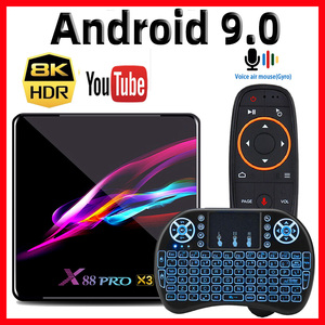 X88 PRO X3 Amlogic S905X3 Android 9.0 TV Box 4GB RAM 128GB 32GB 64GB Smart TV Box 8K Media Player Quad-core Set top Box 2GB 16GB
